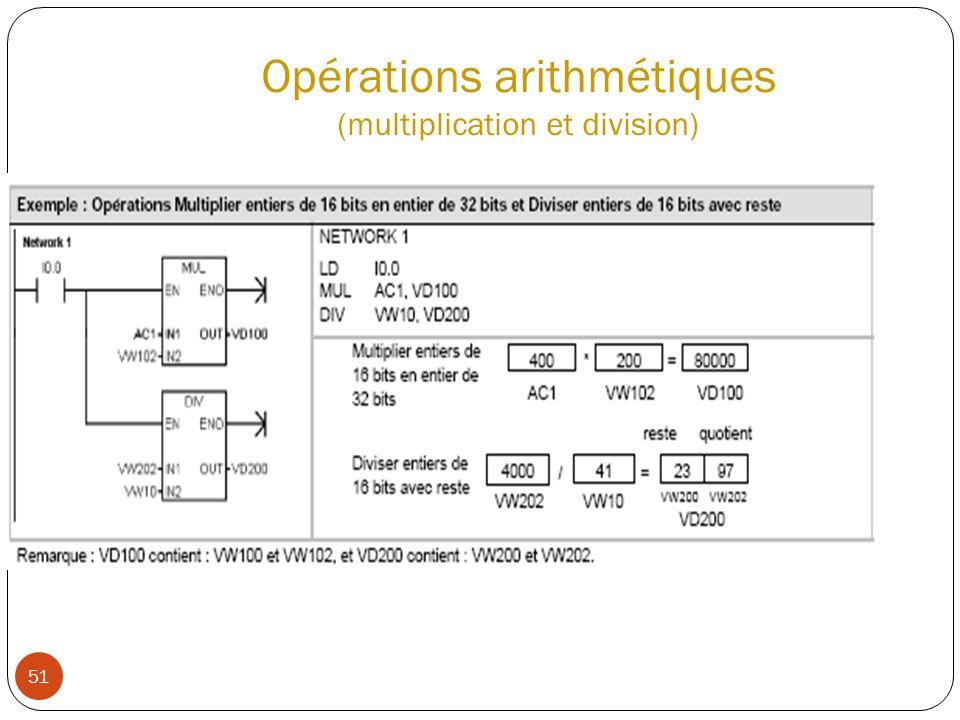 51 Opérations arithmétiques (multiplication et division)