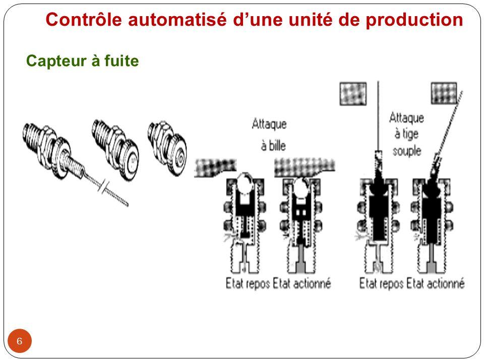 6 Contrôle automatisé dune unité de production Capteur à fuite