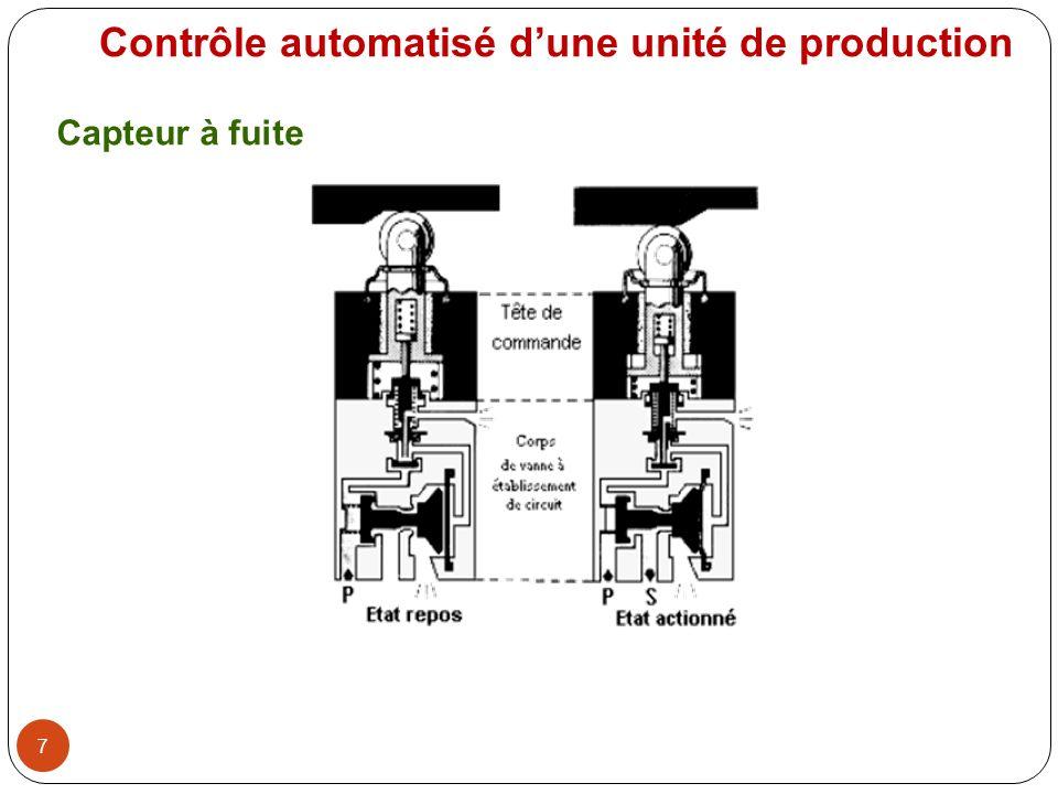 8 Capteur capacitif Contrôle automatisé dune unité de production