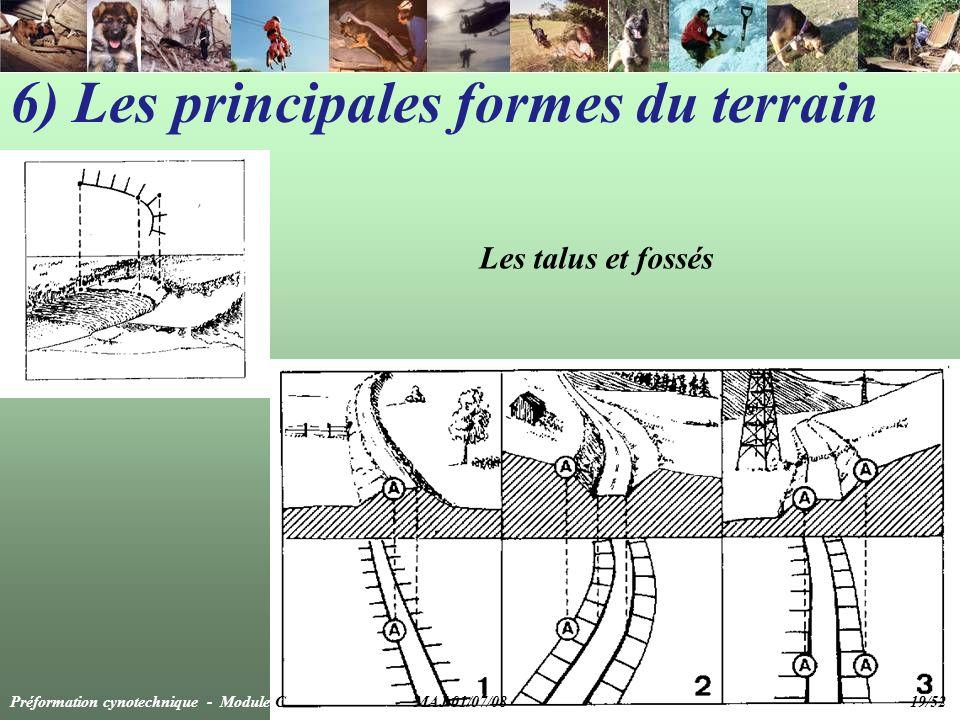 Les talus et fossés 6) Les principales formes du terrain Préformation cynotechnique - Module C MAJ 01/07/08 19/52
