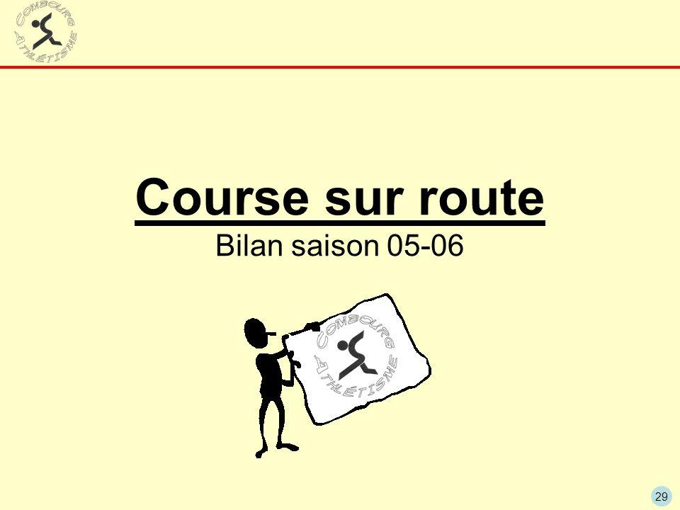 29 Course sur route Bilan saison 05-06