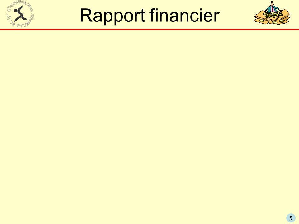 5 Rapport financier