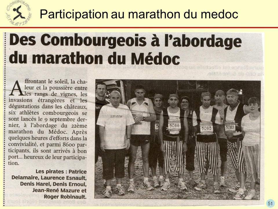 51 Participation au marathon du medoc