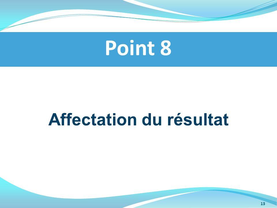 Affectation du résultat Point 8 13