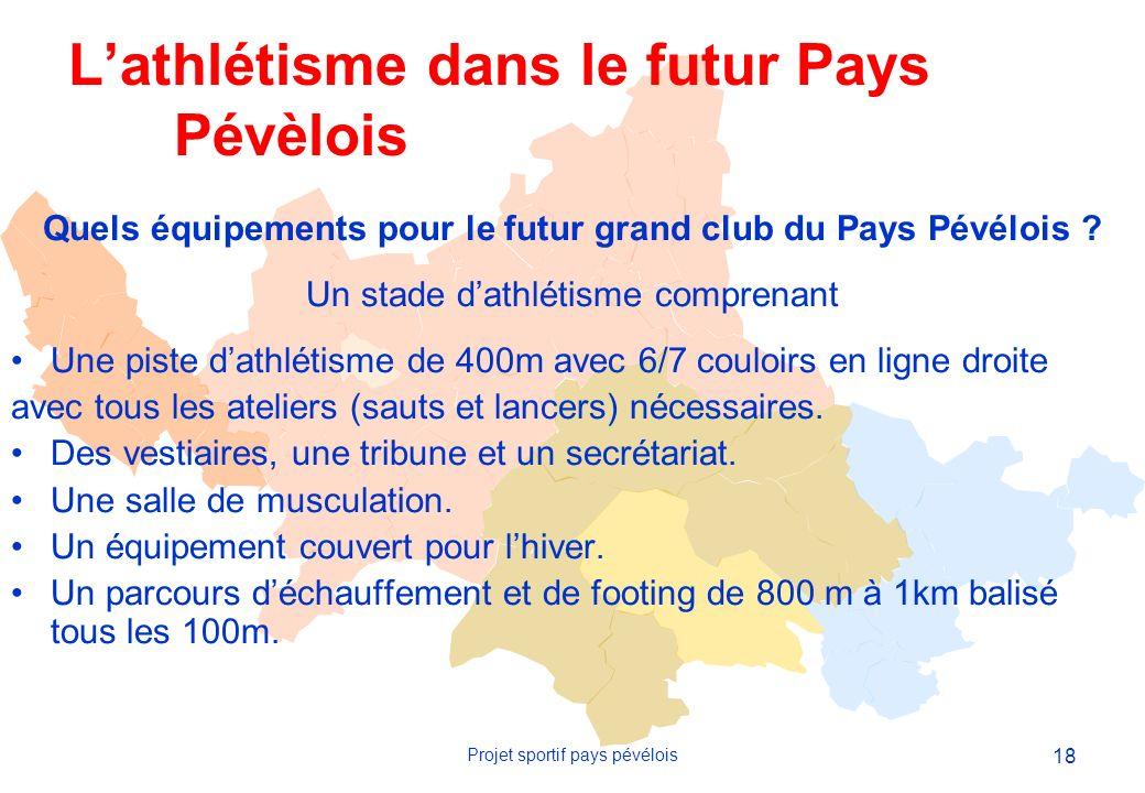 18 Projet sportif pays pévélois Quels équipements pour le futur grand club du Pays Pévélois .