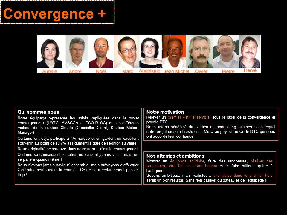 Convergence + Qui sommes nous Notre équipage représente les unités impliquées dans le projet convergence + (UATO, AVSCOA et CCO-R OA) et ses différent