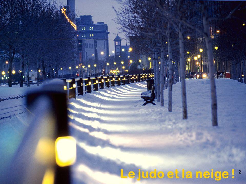 2 Le judo et la neige !