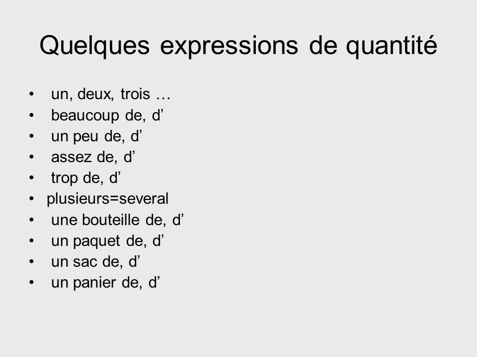 Le pronom en remplace des expressions partitives et de quantité.