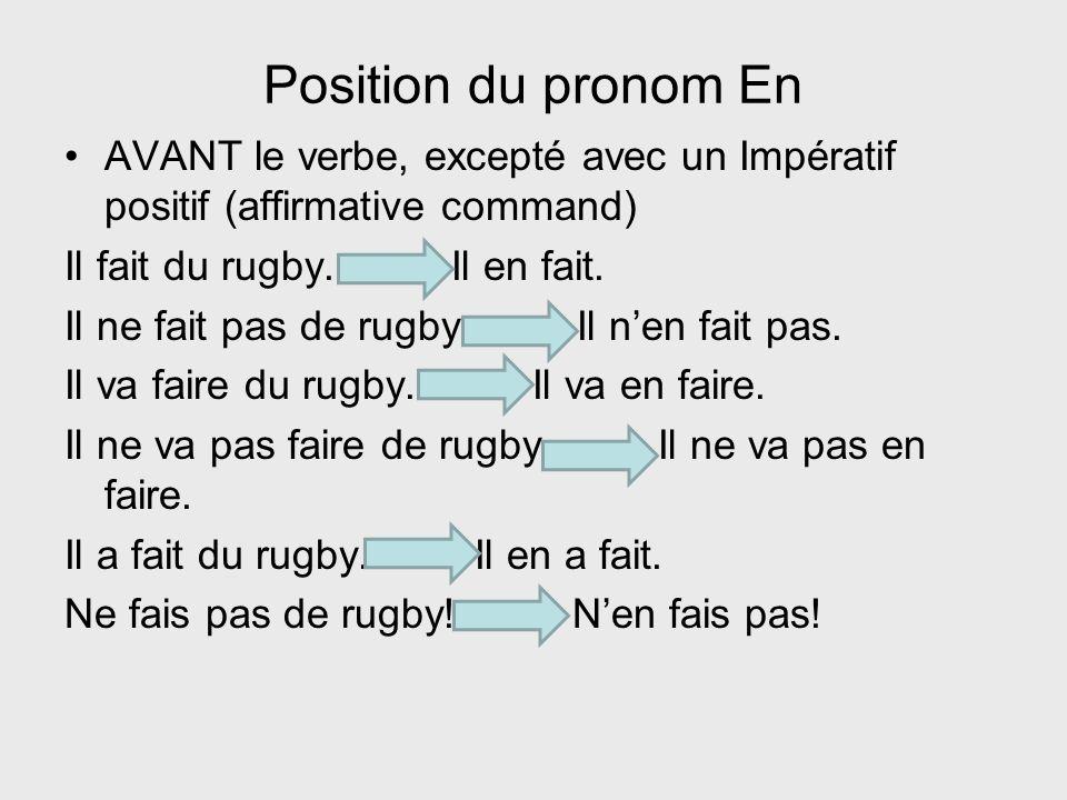 Verbes suivis de la préposition de Exemples : Tu viens de Lyon.