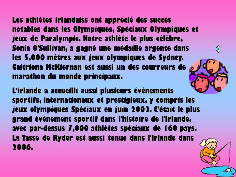 Les athlètes irlandaiss ont apprécié des succès notables dans les Olympiques, Spéciaux Olympiques et jeux de Paralympic. Notre athlète le plus célèbre