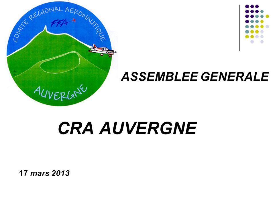 CRA AUVERGNE 17 mars 2013 ASSEMBLEE GENERALE