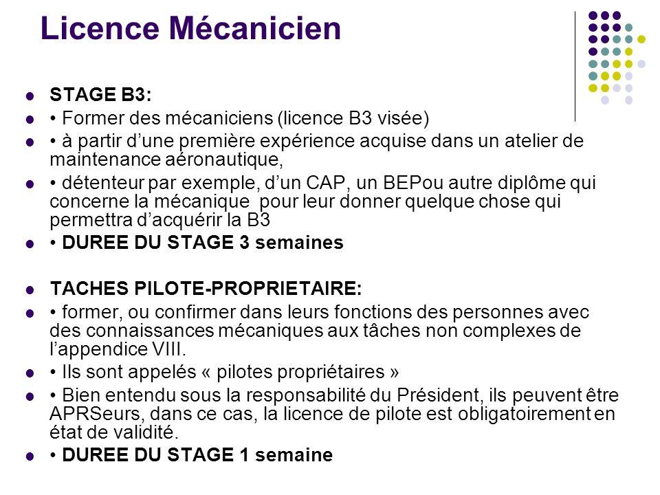 Licence Mécanicien STAGE B3: Former des mécaniciens (licence B3 visée) à partir dune première expérience acquise dans un atelier de maintenance aérona
