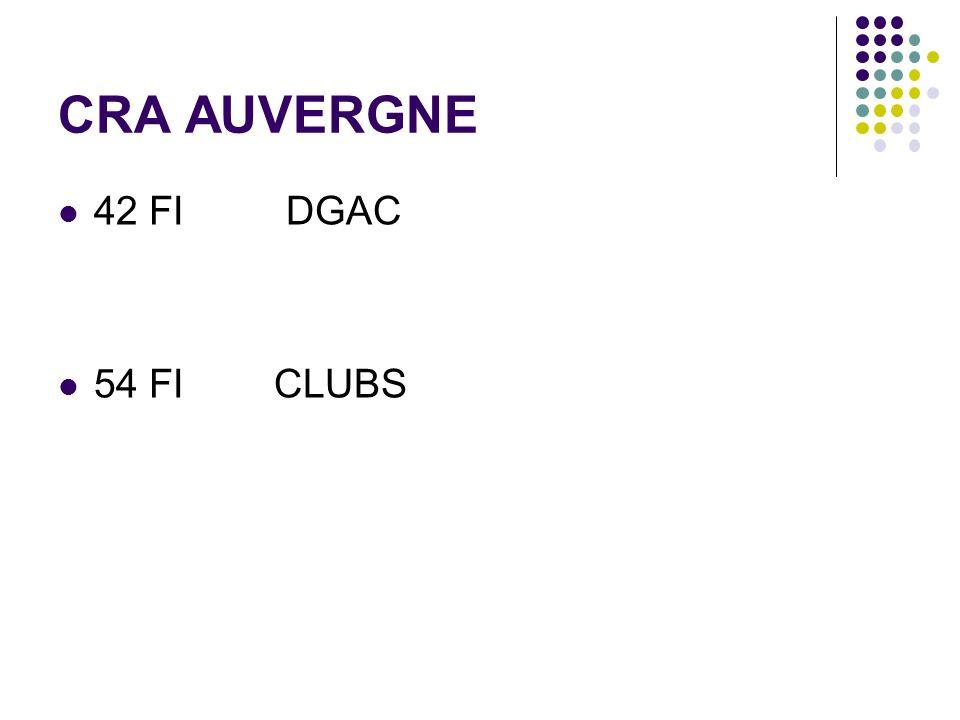 CRA AUVERGNE 42 FI DGAC 54 FI CLUBS