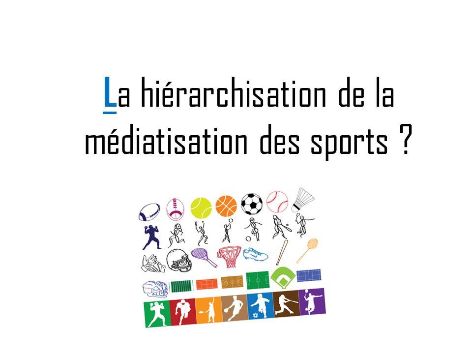 L a hiérarchisation de la médiatisation des sports ?