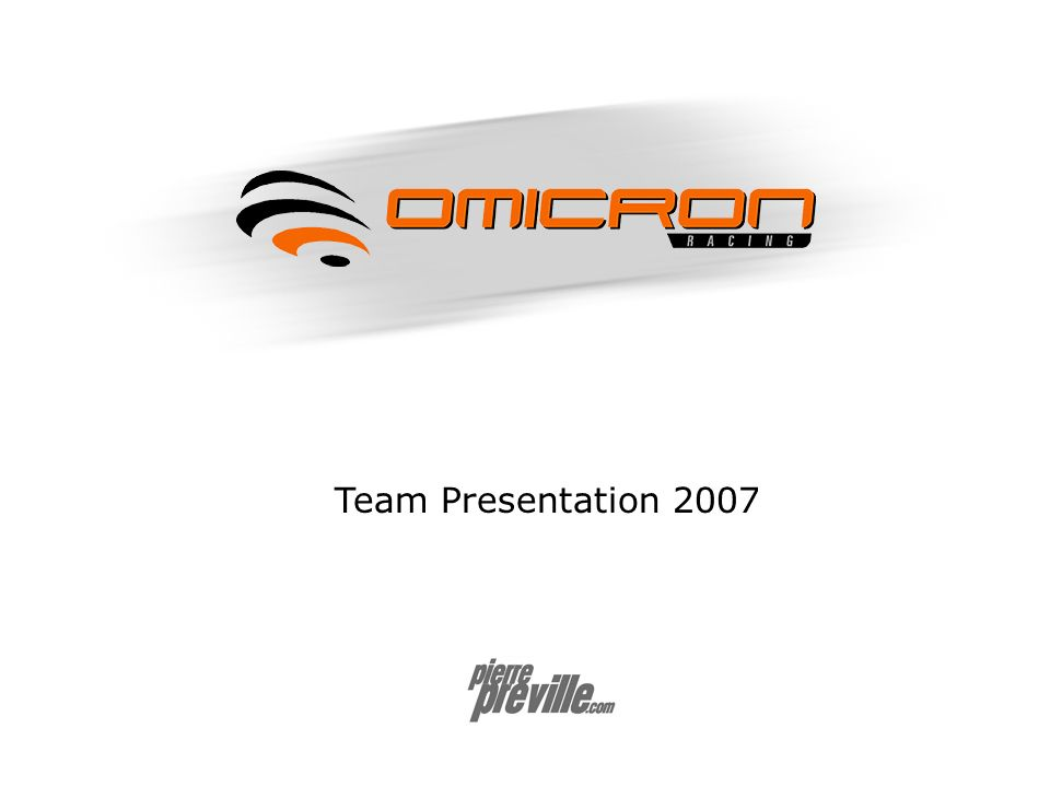 Team Presentation 2007