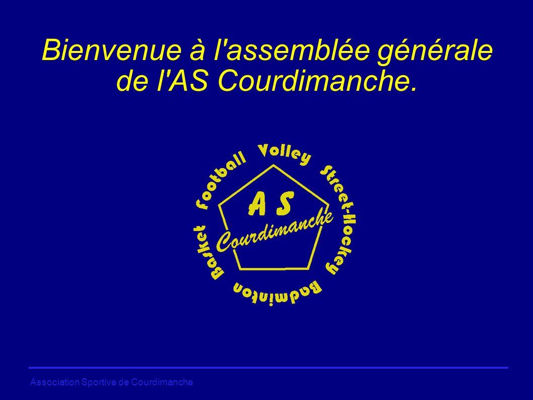 Association Sportive de Courdimanche Bienvenue à l assemblée générale de l AS Courdimanche.
