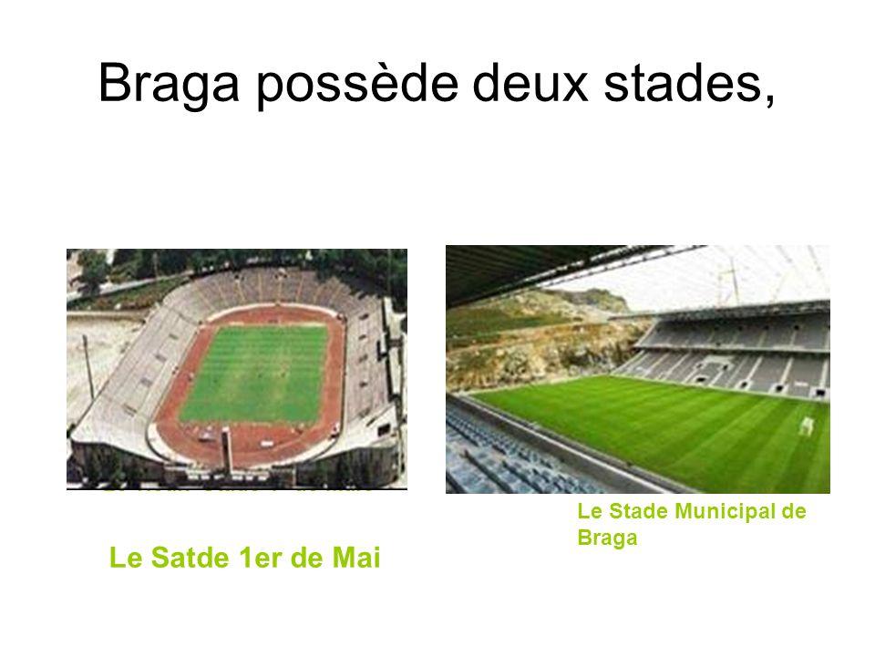 Braga possède deux stades, Le vieux Stade 1º de Maio Le Stade Municipal de Braga Le Satde 1er de Mai