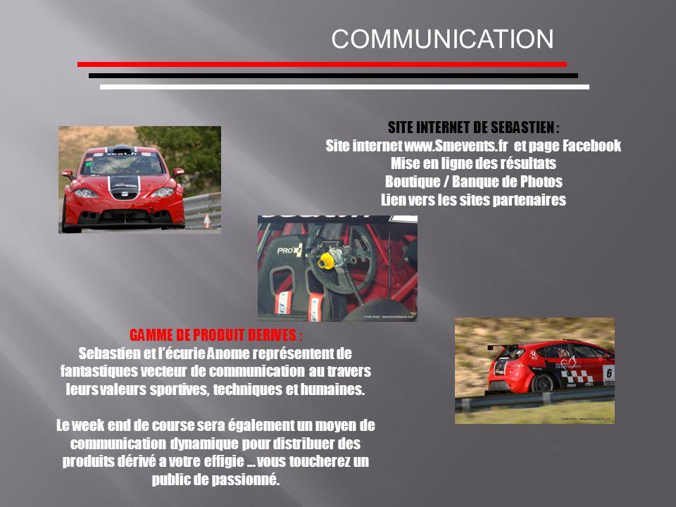SITE INTERNET DE SEBASTIEN : Site internet www.Smevents.fr et page Facebook Mise en ligne des résultats Boutique / Banque de Photos Lien vers les site