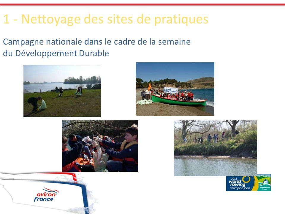 1 - Nettoyage des sites de pratiques Campagne nationale dans le cadre de la semaine du Développement Durable