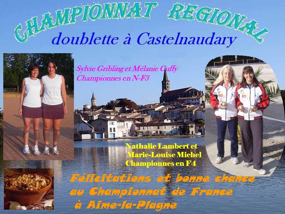 Florian Garcia et Dominique Diumenge Champion en 3 ème division Patrick Pédragosa et Jean-Claude Loste Vice-champion Guy Torres et Henri Castillo Cham