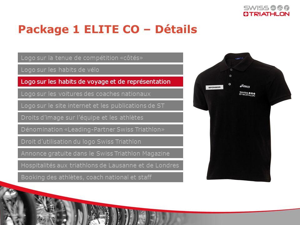 Package 1 ELITE CO – Détails Logo sur les habits de vélo Logo sur les habits de voyage et de représentation Logo sur les voitures des coaches nationau