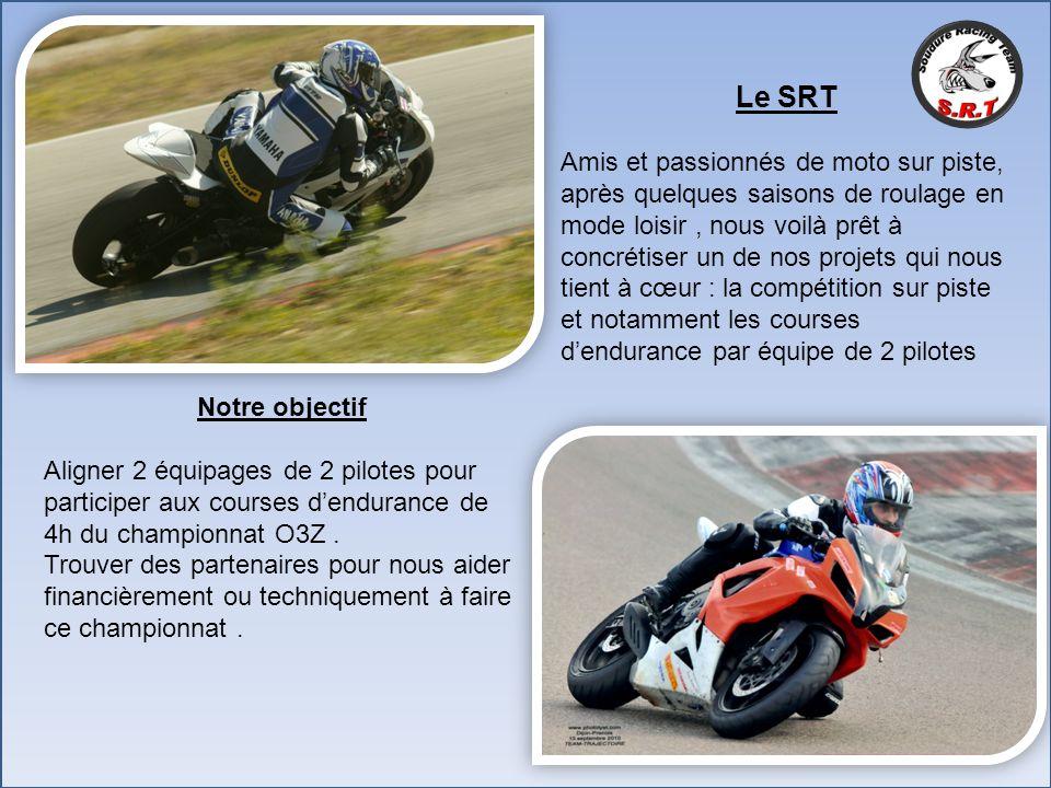 Le SRT Amis et passionnés de moto sur piste, après quelques saisons de roulage en mode loisir, nous voilà prêt à concrétiser un de nos projets qui nou