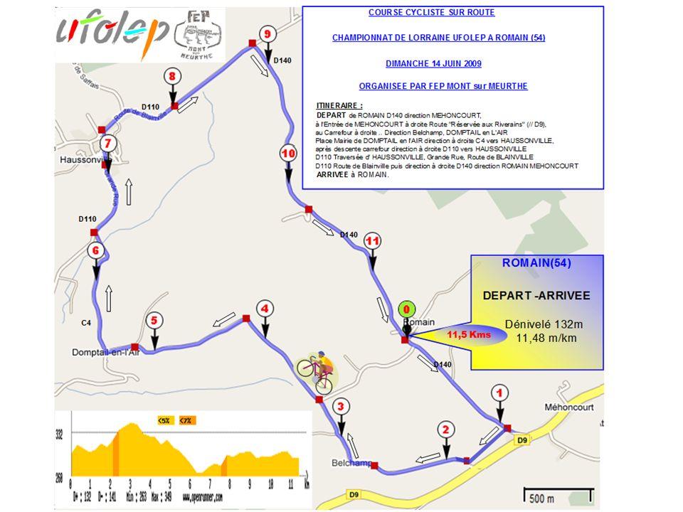 Belchamp 1 -2% Reste à monter 290 m Virage à droite 2,62 Kms / 344m / d = +2 / 59 m