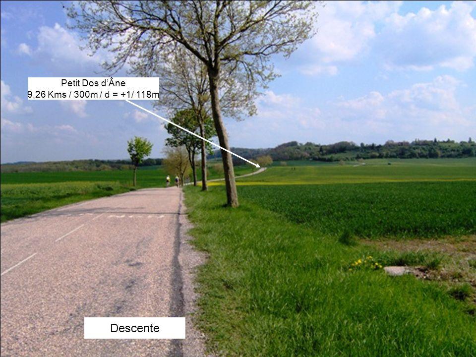 Descente Petit Dos dÂne 9,26 Kms / 300m / d = +1/ 118m