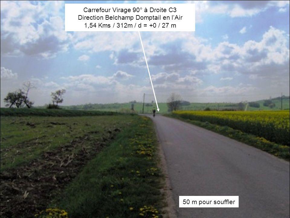 Montée 2-3% sur 230m Borne D110 Kms7 6,53 Kms / 273m / d = +3 / 76 m