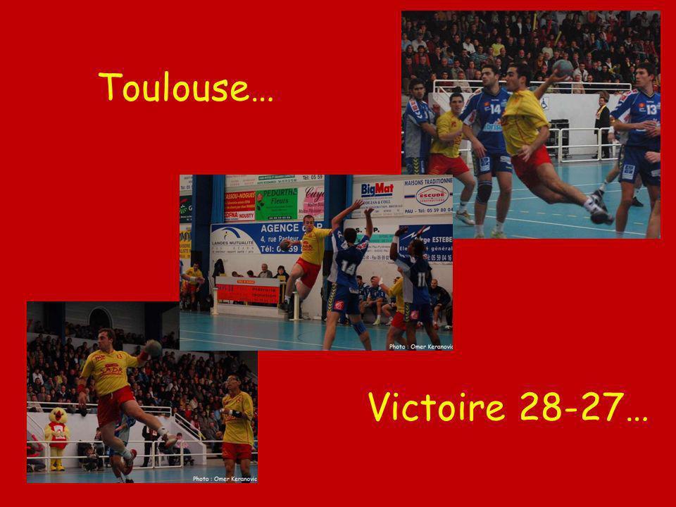 Toulouse… Victoire 28-27…