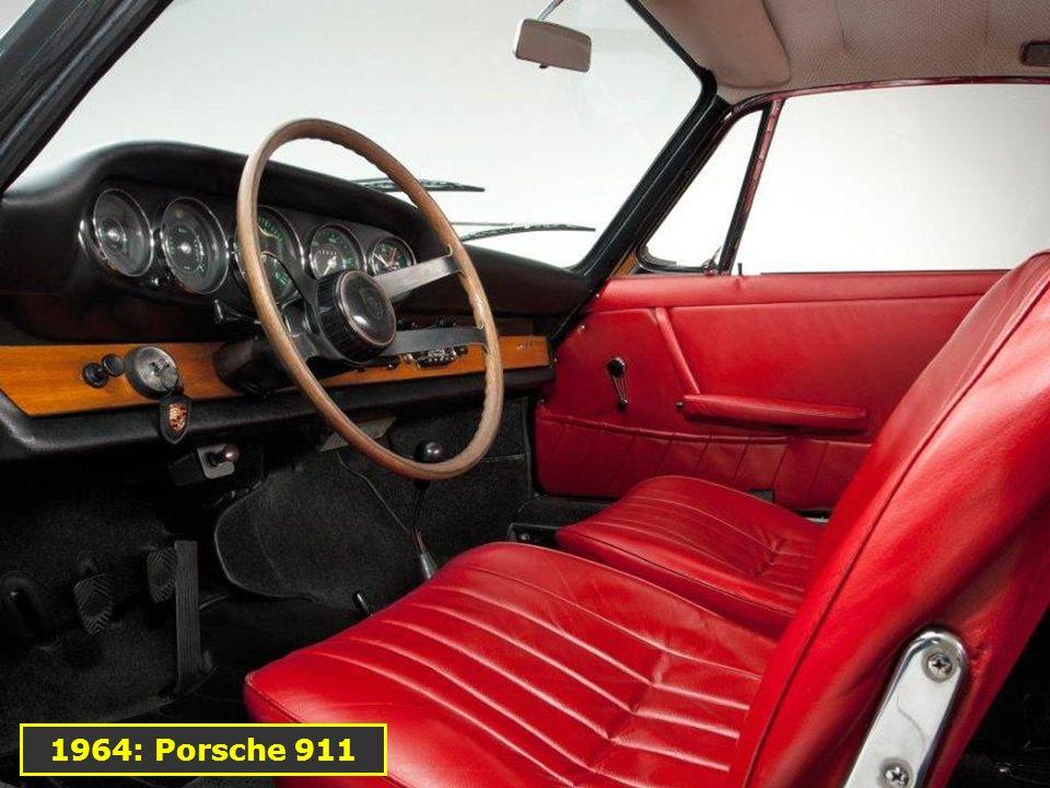 1964: La 911 Elle inaugure le premier 6 cylindres à plat de la marque (Flat 6)