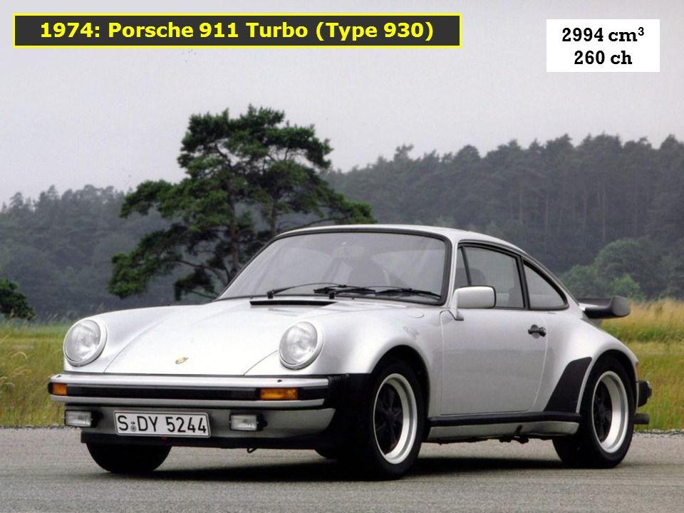 Les Type G sont reconnaissables à leurs pare-chocs à soufflets. 1974: La 911 « Type G »