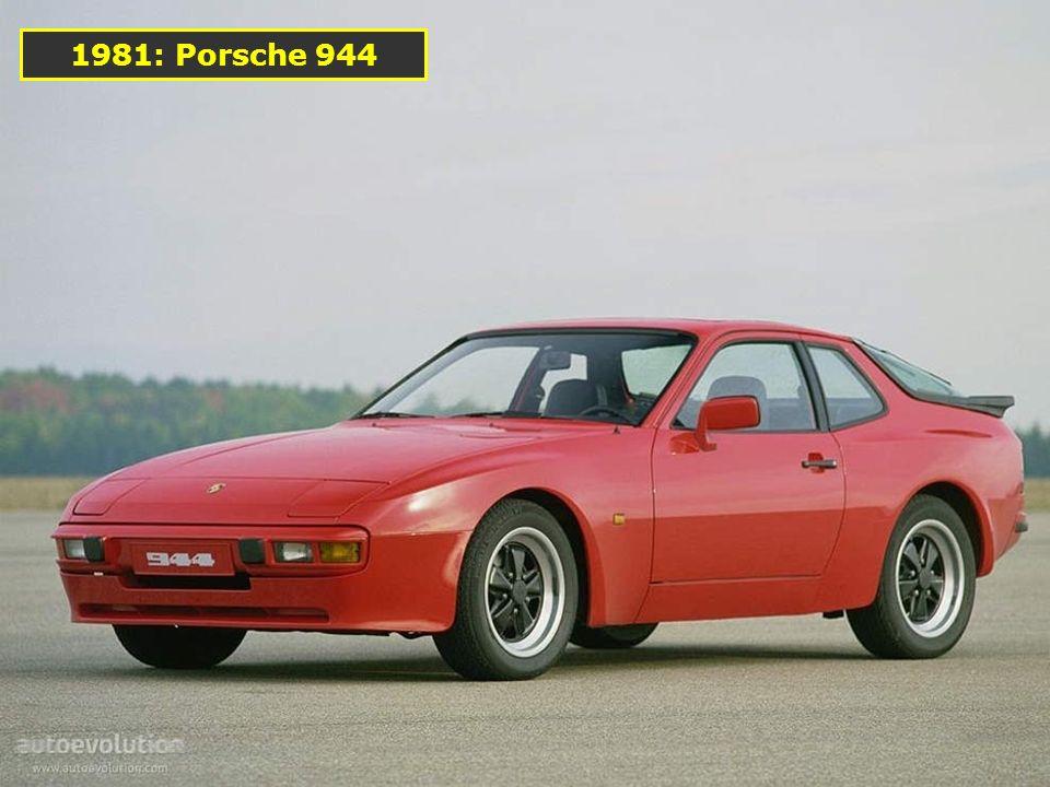 C'est la première Porsche à recevoir un V8 installé en position avant 1977: La 928