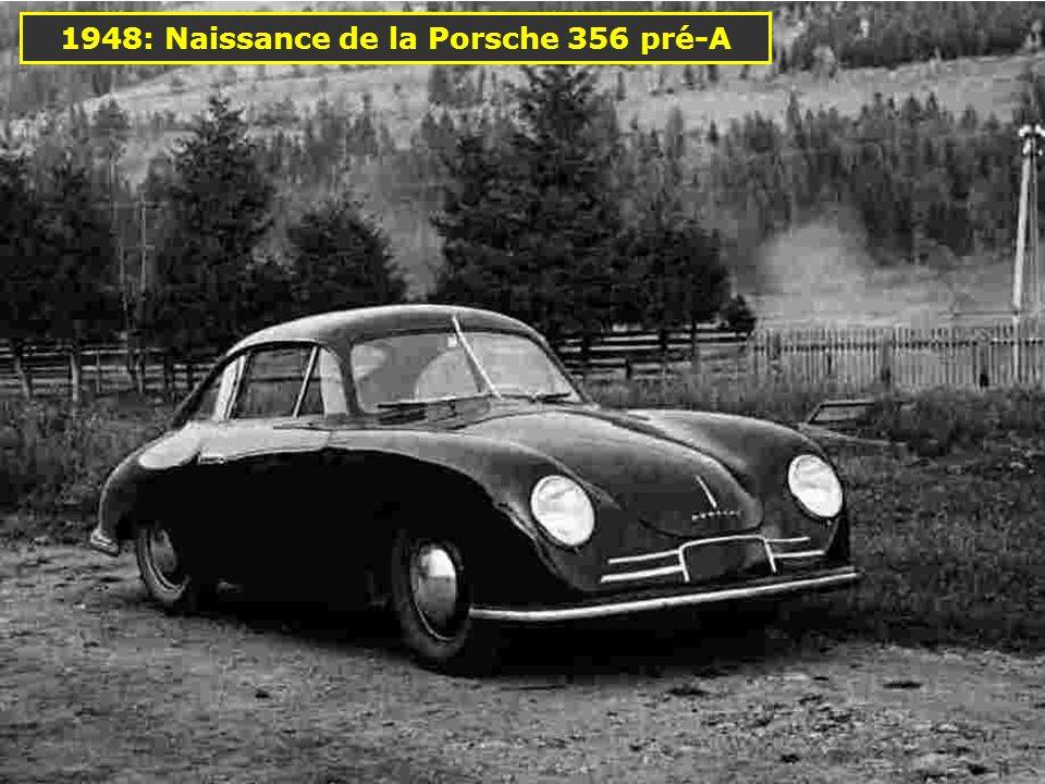 1938: Porsche Type 64 Cest la première voiture produite par Porsche 985 cm 3 50 ch