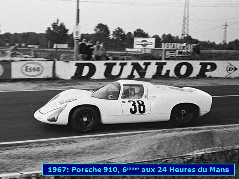 1967: Porsche 906, 7 ième aux 24 Heures du Mans