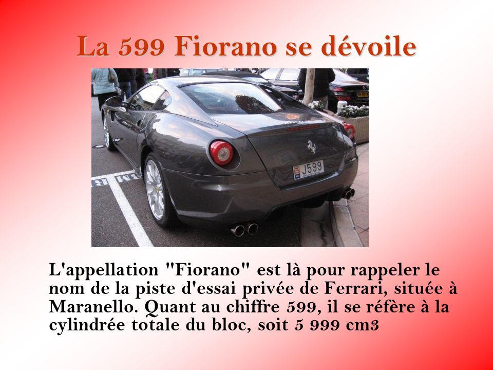 La 599 Fiorano se dévoile L'appellation
