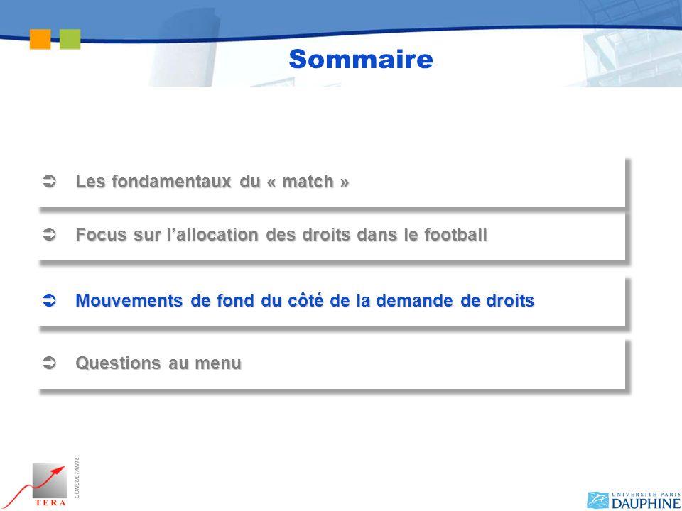Focus sur lallocation des droits dans le football Focus sur lallocation des droits dans le football Mouvements de fond du côté de la demande de droits