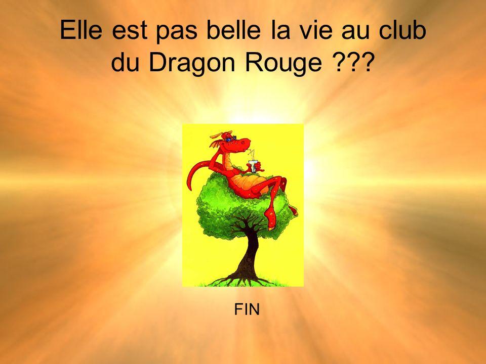 Elle est pas belle la vie au club du Dragon Rouge ??? FIN