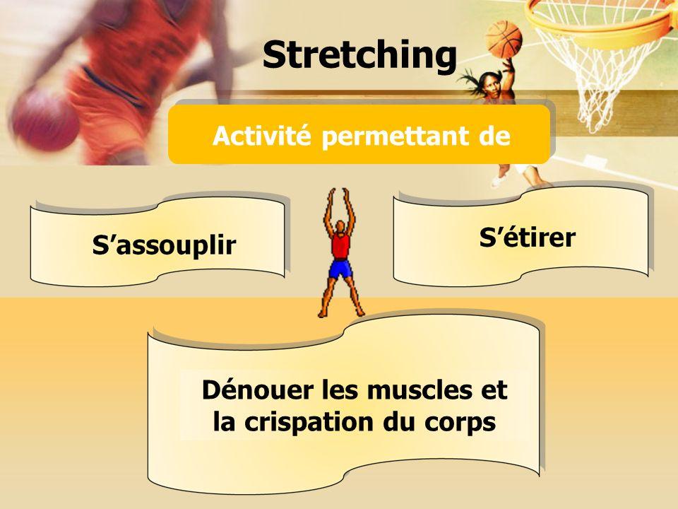 Stretching Activité permettant de Dénouer les muscles et la crispation du corps