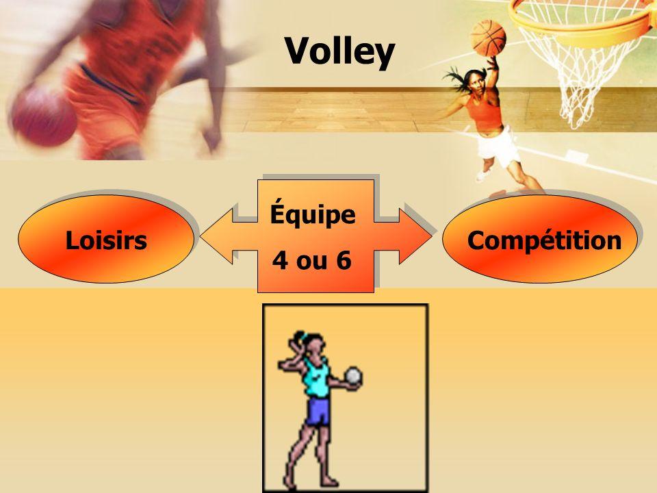 Volley Équipe 4 ou 6 LoisirsCompétition