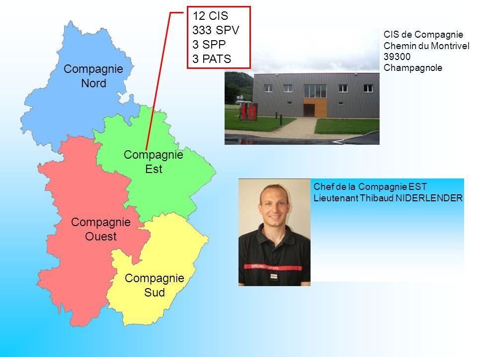 CIS de Compagnie Chemin du Montrivel 39300 Champagnole Compagnie Nord Compagnie Est Compagnie Ouest Compagnie Sud 12 CIS 333 SPV 3 SPP 3 PATS Chef de