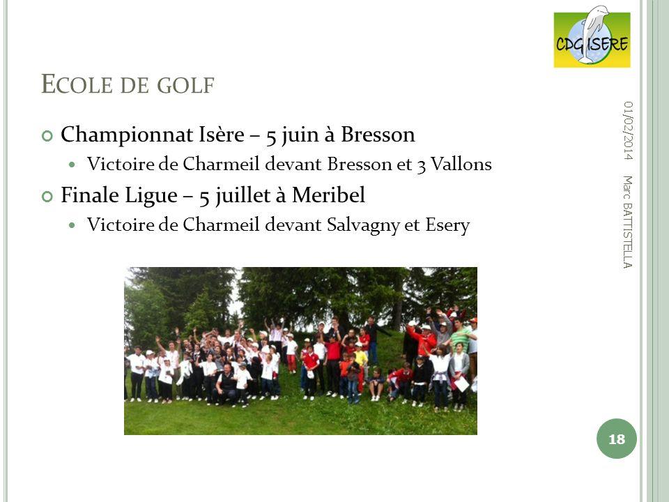 Championnat Isère – 5 juin à Bresson Victoire de Charmeil devant Bresson et 3 Vallons Finale Ligue – 5 juillet à Meribel Victoire de Charmeil devant S