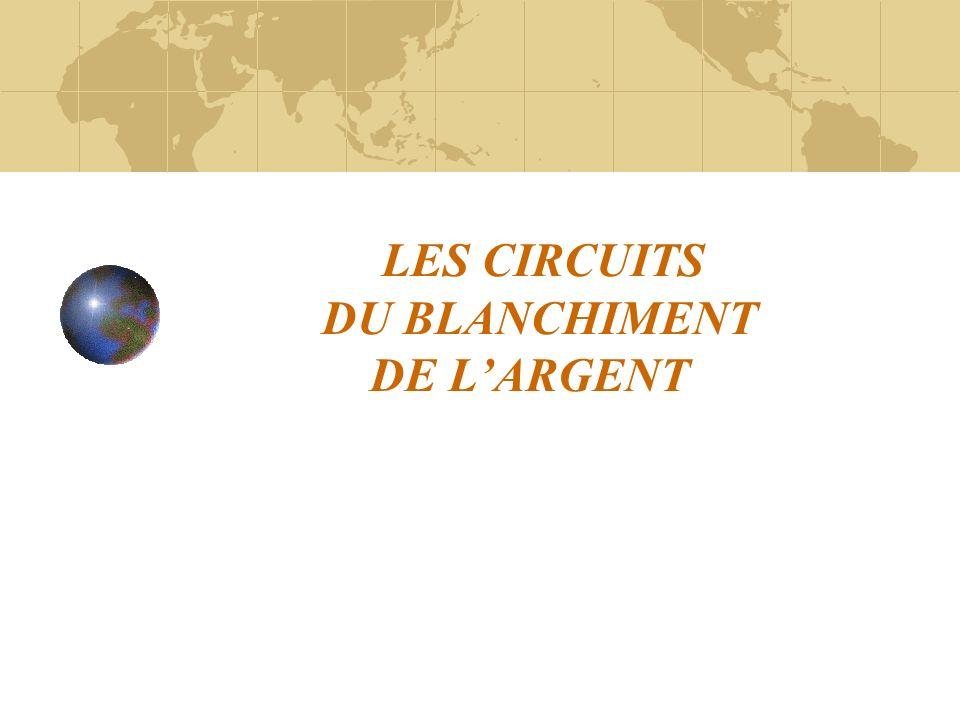 LINGENIERIE DU BLANCHIMENT Les instruments de la préservation de lanonymat des principaux responsables 1.