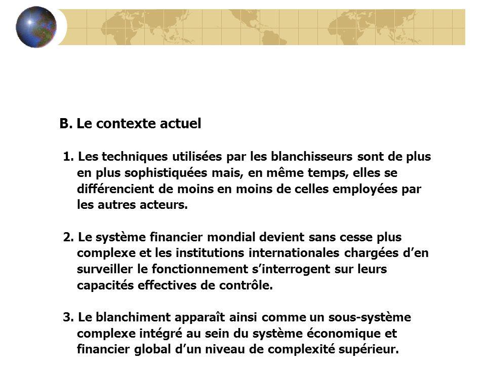 LEXPANSION DES RESEAUX FINANCIERS CLANDESTINS Lutilisation du secteur bancaire 1.