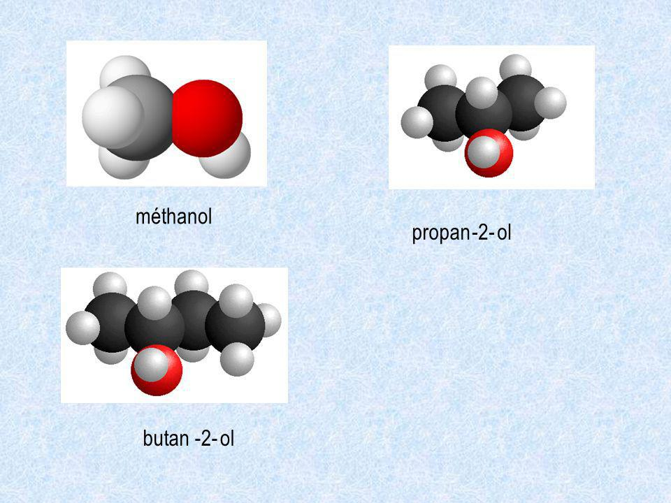 méthanol propan ol -2- butan-2-