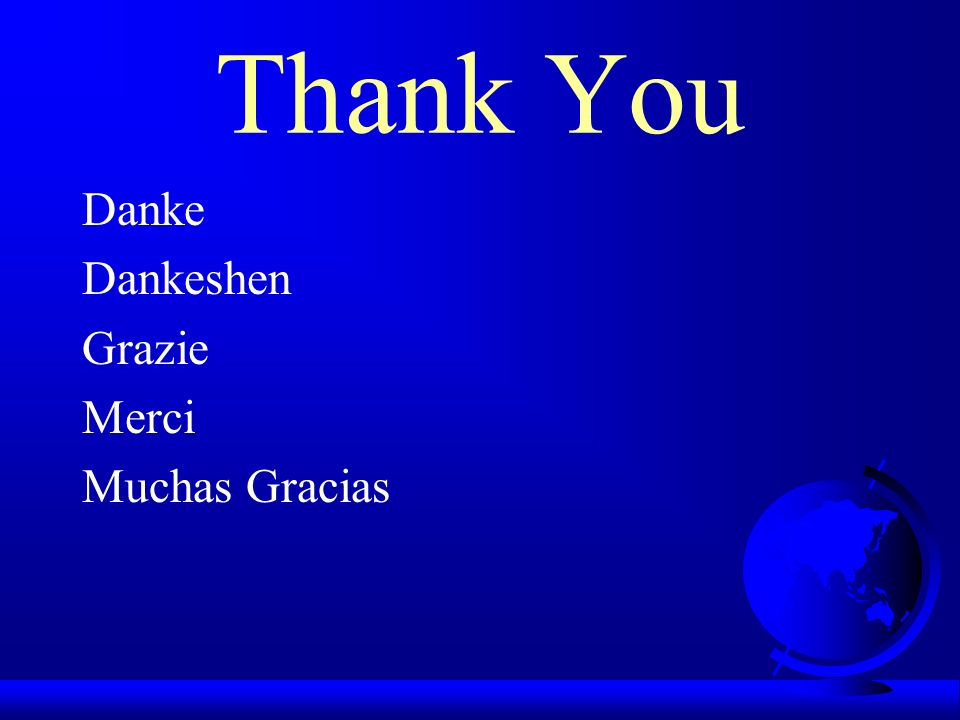 Thank You Danke Dankeshen Grazie Merci Muchas Gracias