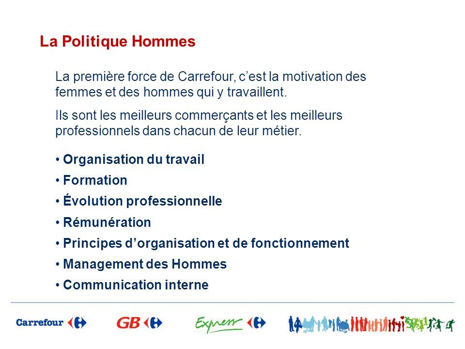 La Politique Hommes La première force de Carrefour, cest la motivation des femmes et des hommes qui y travaillent. Ils sont les meilleurs commerçants