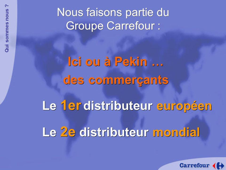 1 er distributeur en : France Espagne Grèce Belgique Italie 1 er distributeur en : France Espagne Grèce Belgique Italie Le Groupe Carrefour est :