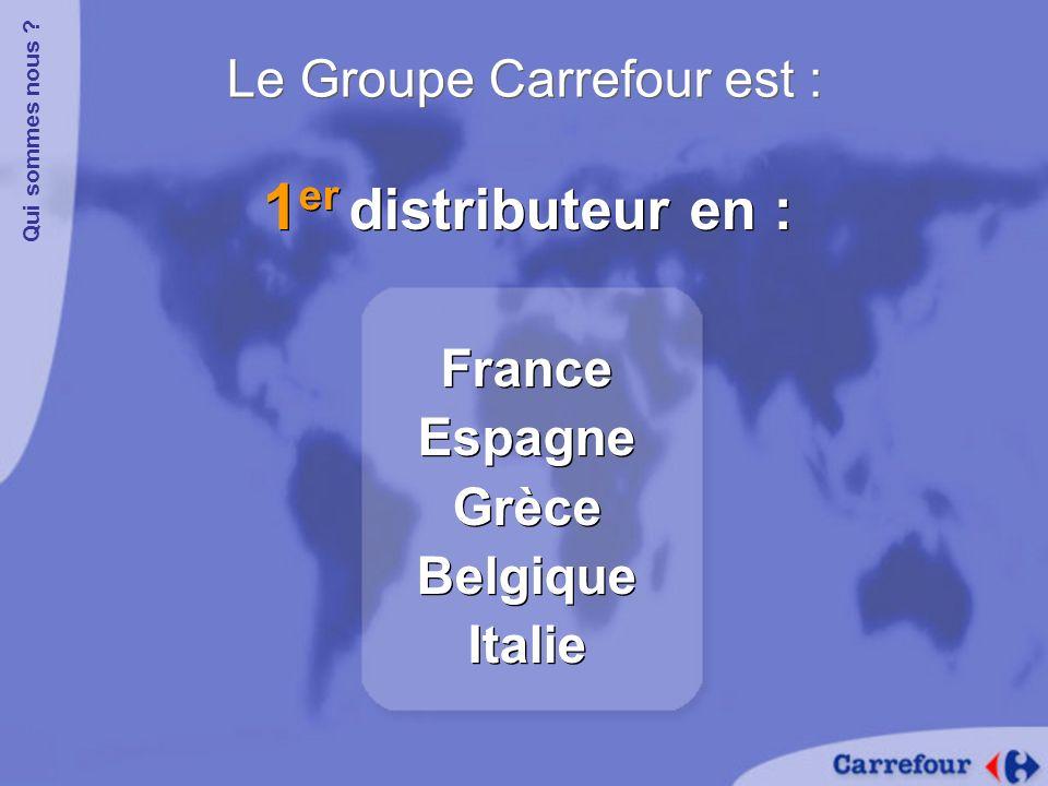 Le Groupe Carrefour a : Plus de 12 000 magasins dans 29 pays, dont 973 hypermarchés Qui sommes nous .
