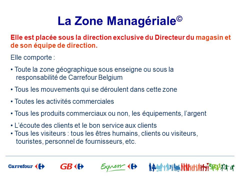 La Zone Managériale © Elle est placée sous la direction exclusive du Directeur du magasin et de son équipe de direction. Elle comporte : Toute la zone